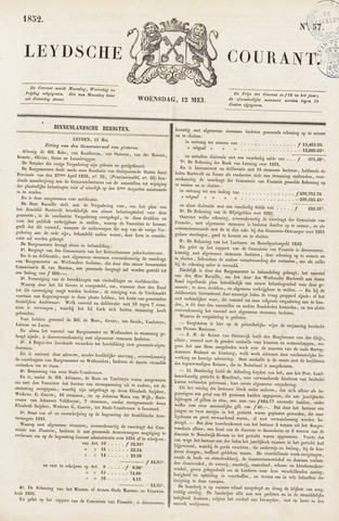 Leydse Courant 1852-05-12
