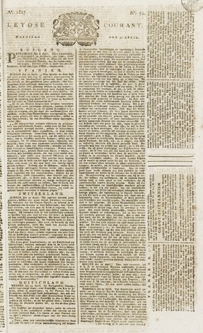 Leydse Courant 1817-04-30