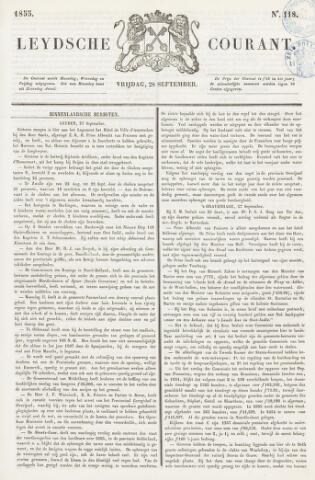 Leydse Courant 1855-09-28