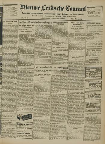 Nieuwe Leidsche Courant 1939-11-02