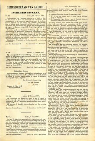 Handelingen van de Raad 1917-02-27