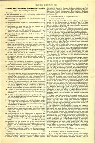Handelingen van de Raad 1928-01-23