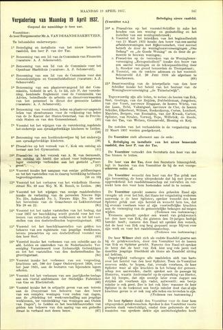 Handelingen van de Raad 1937-04-19