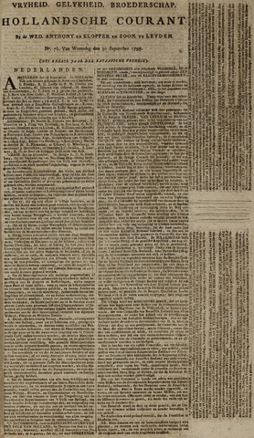 Leydse Courant 1795-09-30