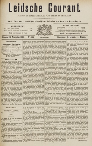 Leydse Courant 1885-08-11