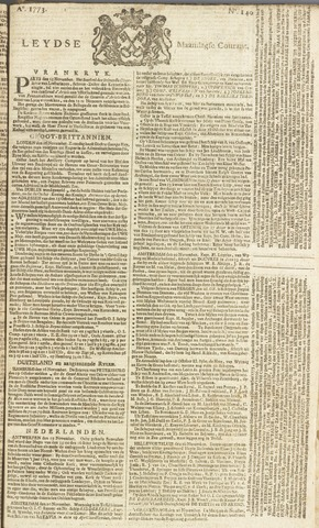 Leydse Courant 1773-11-22