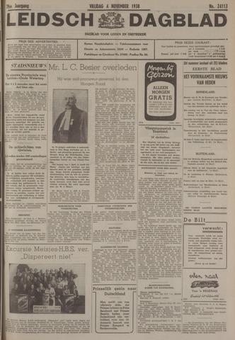 Leidsch Dagblad 1938-11-04