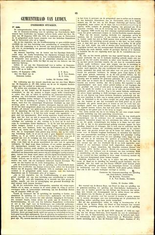 Handelingen van de Raad 1885-10-31