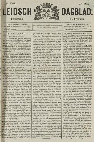 Leidsch Dagblad 1869-02-18