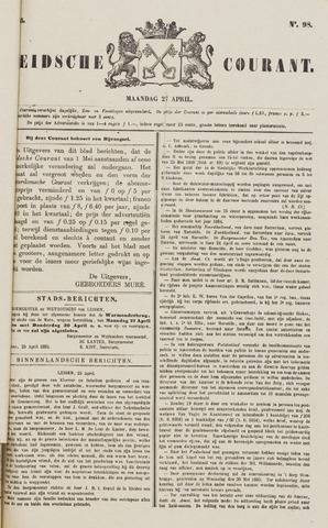 Leydse Courant 1885-04-27