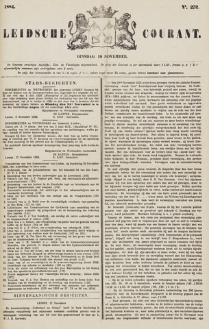 Leydse Courant 1884-11-18