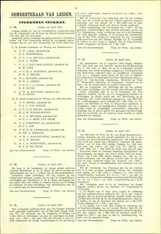 Handelingen van de Raad 1937-04-30