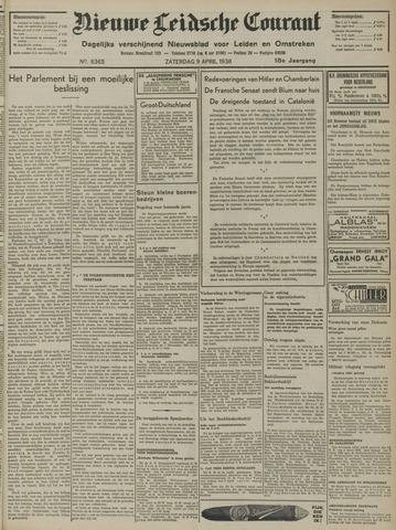 Nieuwe Leidsche Courant 1938-04-09