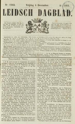 Leidsch Dagblad 1863-12-04