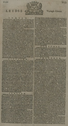 Leydse Courant 1726-10-11