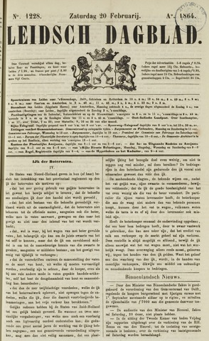 Leidsch Dagblad 1864-02-20