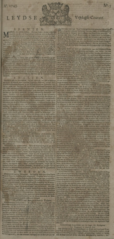 Leydse Courant 1743-01-11