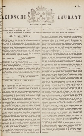 Leydse Courant 1884-02-09