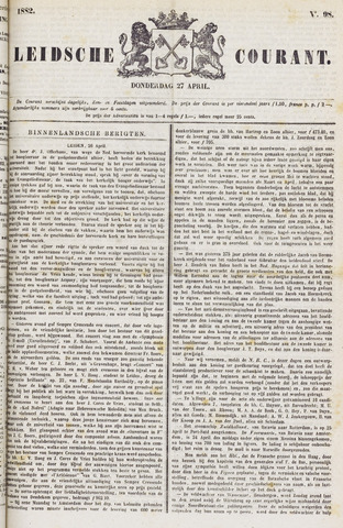 Leydse Courant 1882-04-27