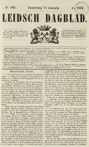 Leidsch Dagblad 1863-01-15