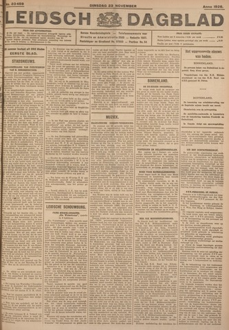 Leidsch Dagblad 1926-11-23