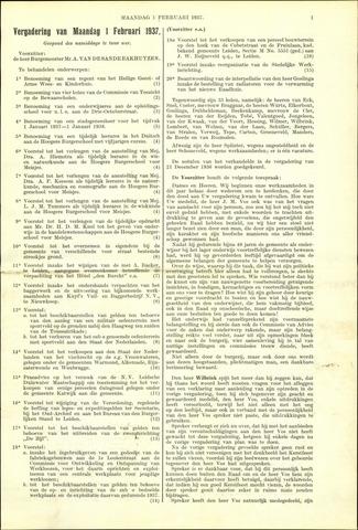 Handelingen van de Raad 1937-02-01