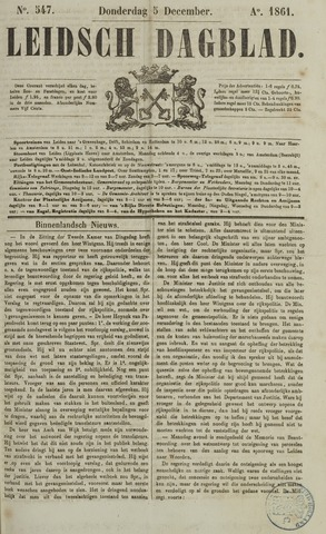 Leidsch Dagblad 1861-12-05