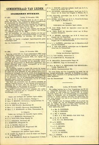 Handelingen van de Raad 1920-11-15