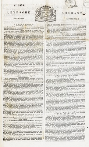 Leydse Courant 1839-02-25