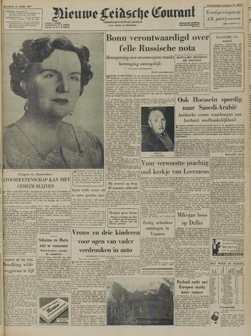 Nieuwe Leidsche Courant 1957-04-29