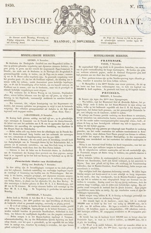 Leydse Courant 1850-11-11