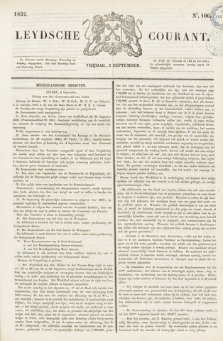 Leydse Courant 1852-09-03