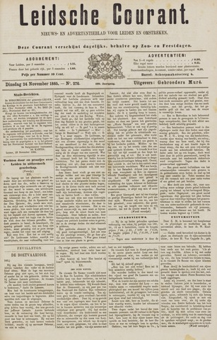 Leydse Courant 1885-11-24