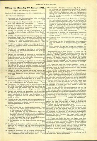 Handelingen van de Raad 1925-01-26