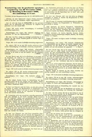 Handelingen van de Raad 1926-12-06