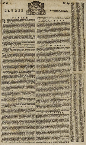 Leydse Courant 1751-11-26