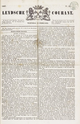 Leydse Courant 1865-02-22