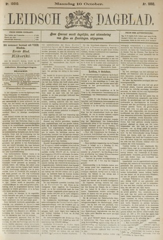 Leidsch Dagblad 1892-10-10