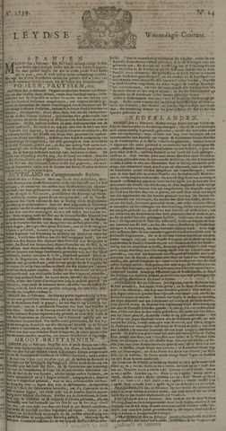 Leydse Courant 1739-02-25