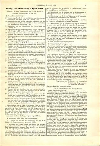 Handelingen van de Raad 1909-04-01