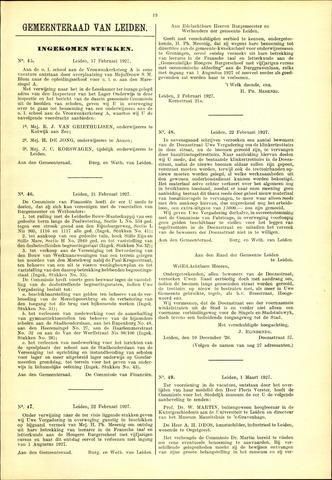 Handelingen van de Raad 1927-02-17