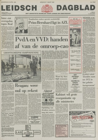 Leidsch Dagblad 1985-04-25