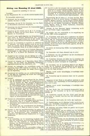 Handelingen van de Raad 1928-06-18
