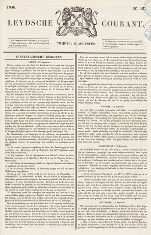 Leydse Courant 1846-08-14