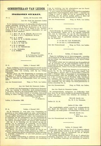 Handelingen van de Raad 1926-12-22