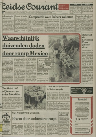 Leidse Courant 1985-09-20