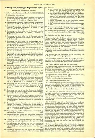 Handelingen van de Raad 1925-09-01