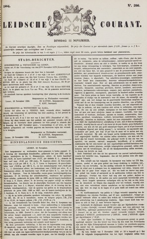 Leydse Courant 1884-11-11