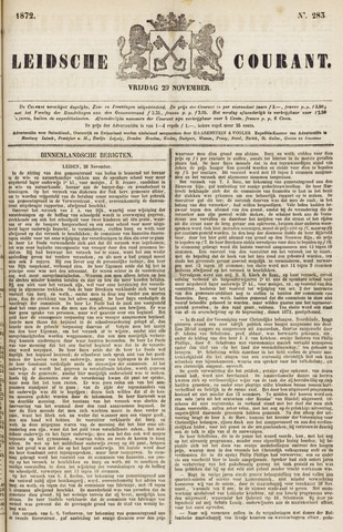 Leydse Courant 1872-11-29