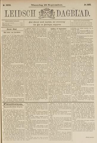 Leidsch Dagblad 1893-09-18